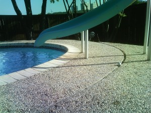 pool deck after lift